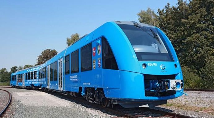 Germany will in 2017 launch the world's first hydrogen-powered zero-emission train that only emitssteam.    The Coradia iLint regional train is being built by French engineering firm Alstom and is expected to be rolled out on a