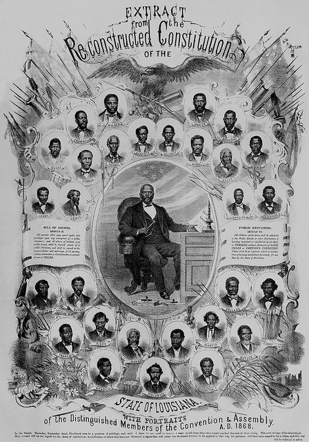 Louisiana Legislaturewas more than 1/2 Black right after the Civil War and Black people were able to vote for the first time.