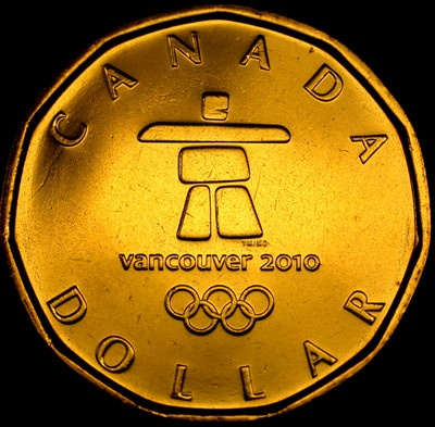 Canada 2010 OLYMPICS Lucky INUKSHUK LOONIE Choice BU ++