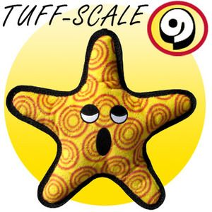 The General Starfish...Tuffie toys have different strength ratings on each toy's label.  My pit's Tuffy is over a year old and is still in excellent shape.