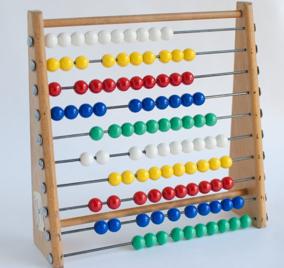 ABACUS Counting Frame Made in London UK by OneLittleBirdShop, £12.00