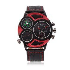 OULM Men Watch Alloy Leather Two Movement Sport Men Watch online - NewChic Mobile