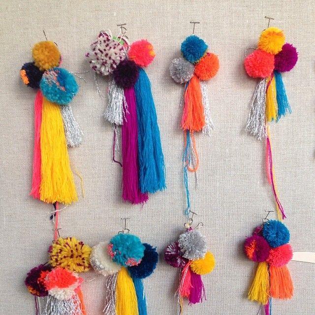 pom pom and tassels - party decor idea via Instagram
