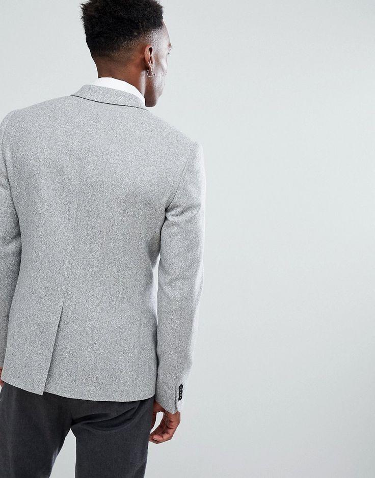 Noak Skinny Blazer in Fleck - Gray