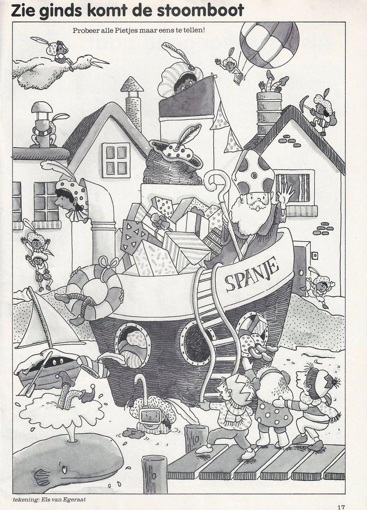 Werkblad visueel: Zoek de Pieten  Sinterklaas
