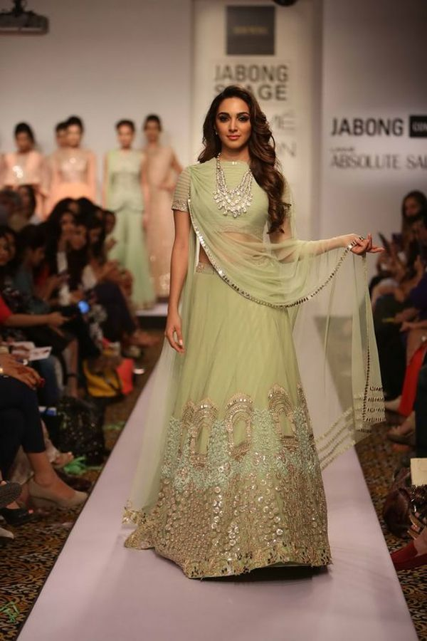 This pista green lehenga is like something out of a dream!