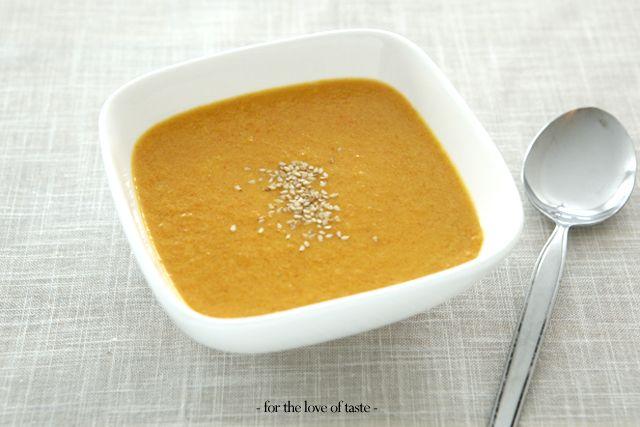carrot tahini ginger soup