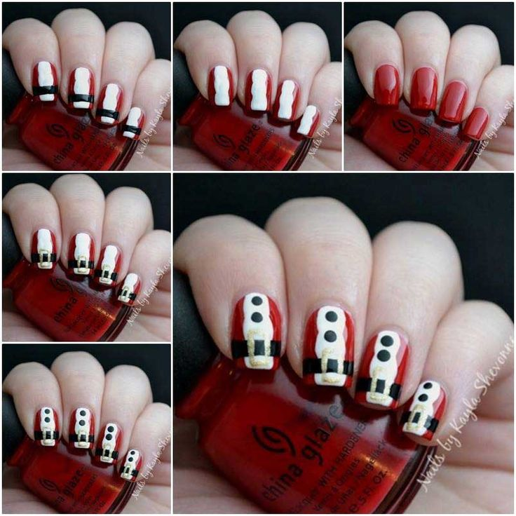 46 best christmas nail art tutorials images on pinterest christmas christmas nail art best tutorials 2016 step by step solutioingenieria Gallery