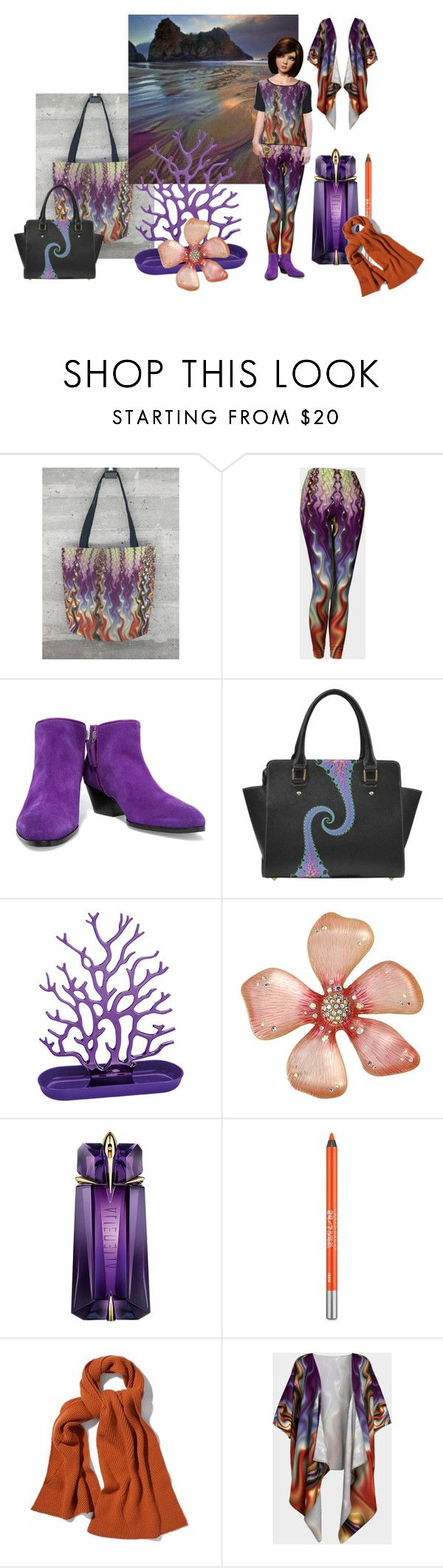 Gnarl Beach by fractallicious on Polyvore featuring Giuseppe Zanotti, Betsey Johnson, WtR London, Urban Decay, Thierry Mugler and Koziol