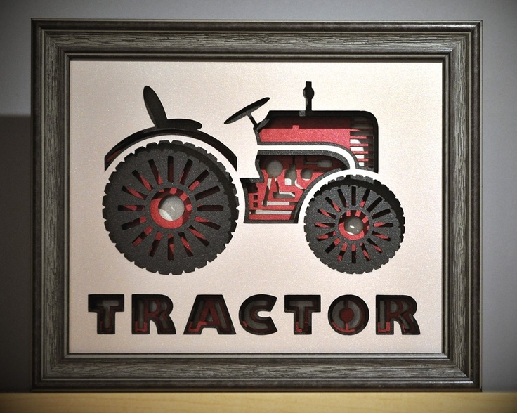 Sale boys room or girls room personalized tractor decor for International harvester wall decor