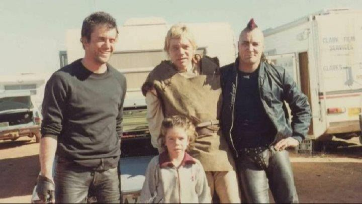 Behind the scenes Mike Preston, Emil Minty, Vernon G Wells ... Vernon Wells Mad Max