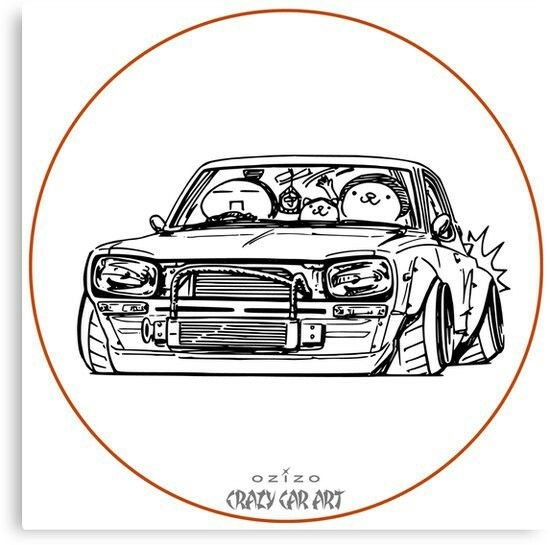 Crazy Car Art 0002 / Canbas print