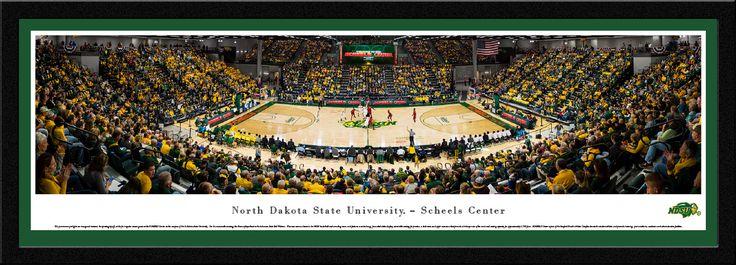 North Dakota State Bison Basketball Panorama - NDSU Scheels Arena Picture - Select Frame $149.95