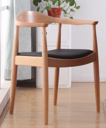 Replica Hans Wegner Round Chair Side Angle