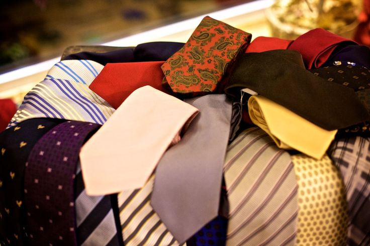 Beautiful collection of ties for any occasion.