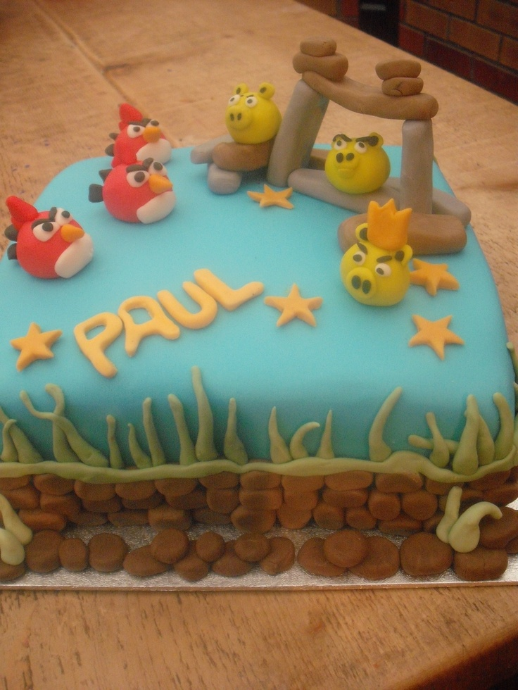 17 best images about angry birds birthday on pinterest for Angry birds cake decoration kit