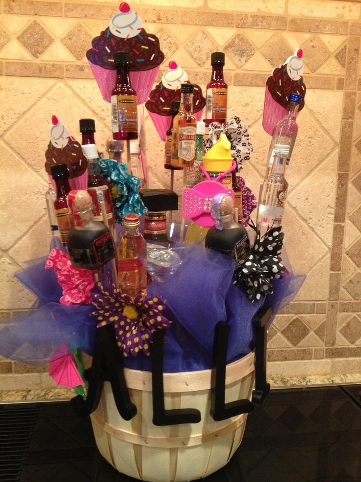 My Daughters 21st Birthday Basket Gift Ideas Pinterest