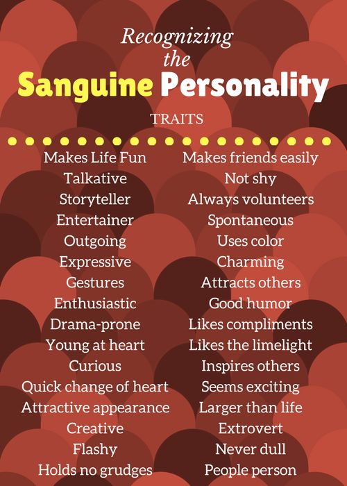 What is Sanguine - positive traits