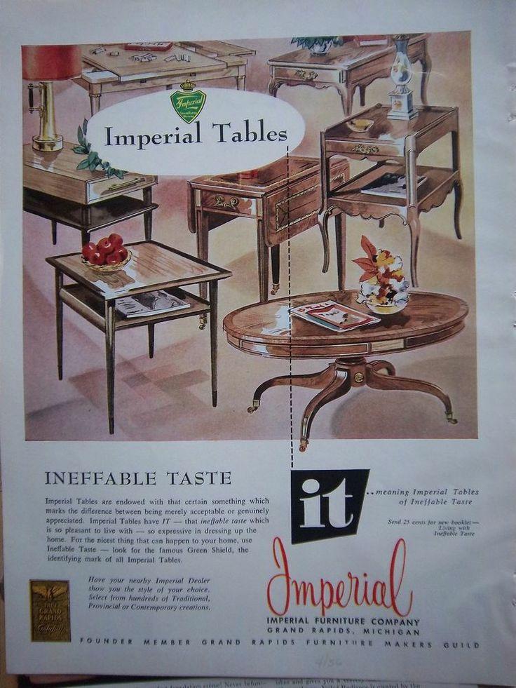 Imperial Furniture Vintage Advertisement. Grand Rapids Furniture.
