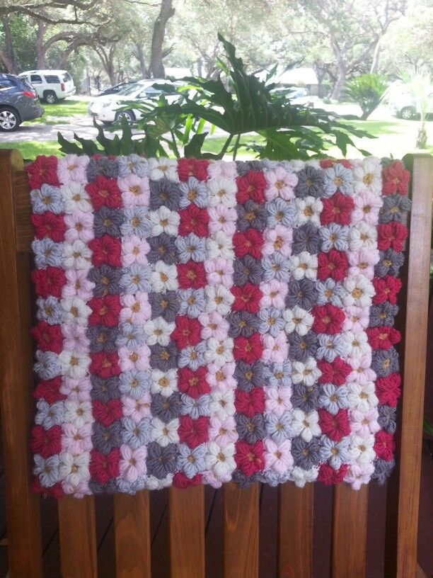 Mollie Flower Crochet Blanket Pattern : Mollie flower baby blanket Done and Done Pinterest ...