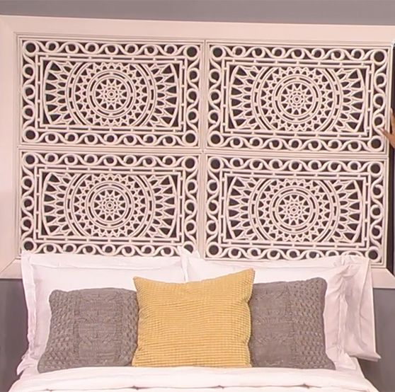 Lauren makk shows you how to make your own headboards How to make your own headboard
