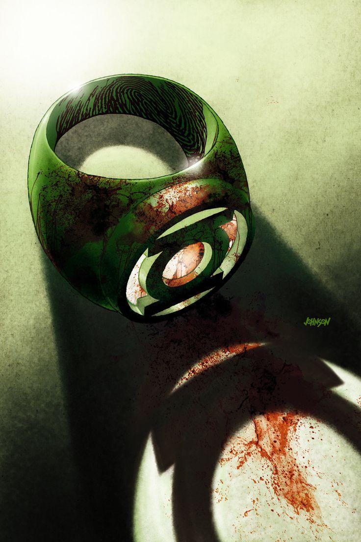 "Green Lantern Art | Green Lantern Ring // cover artwork for ""War of The Green Lantern ..."