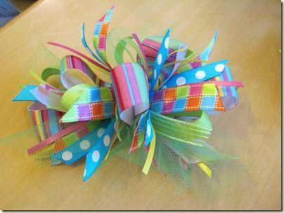 Hairbows to make.  Love the colors!