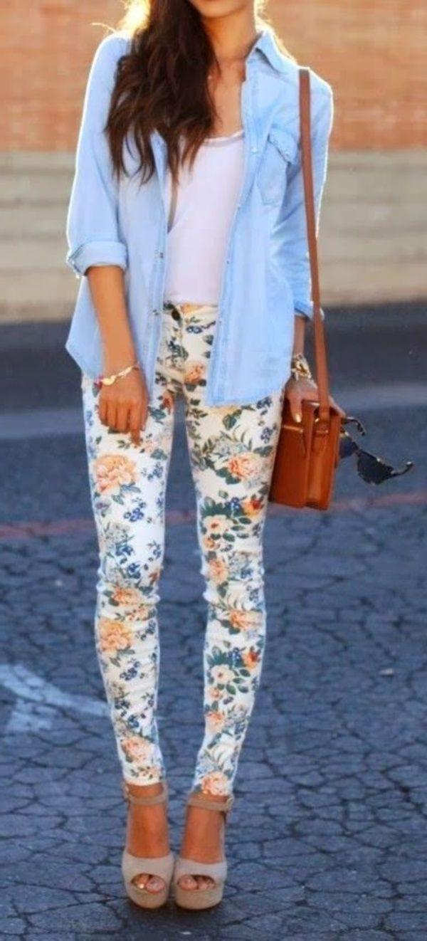 джинсы в цветочек с чем носить фото всегда можете скрыть