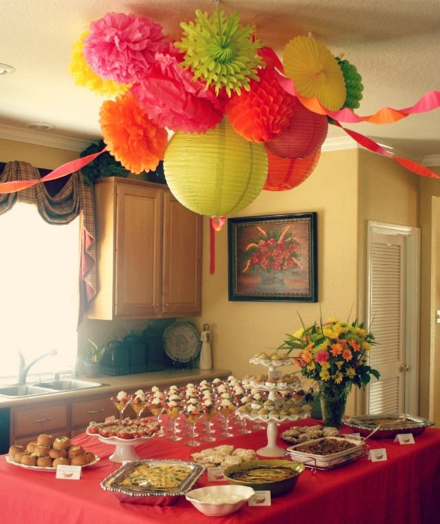 Cute brunch ideas the ceiling decor fruit parfaits and for Baby shower fruit decoration ideas