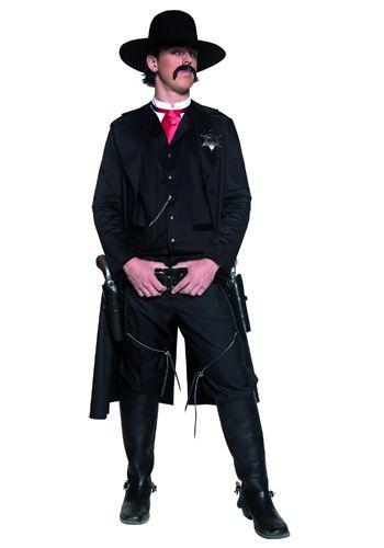 Déguisement de sherif pour homme : jambières et veste longue pour un look 100% Far West !