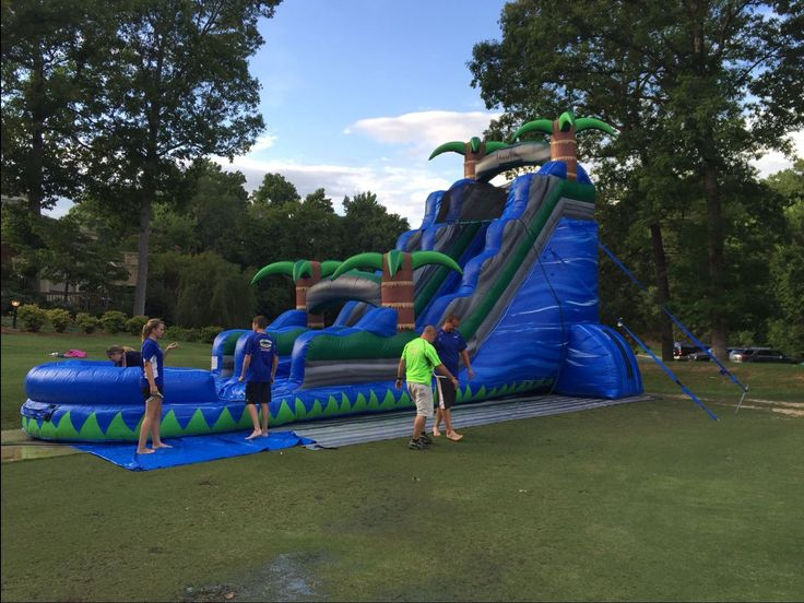 Rent a inflatable water slide from a bounceanble time in