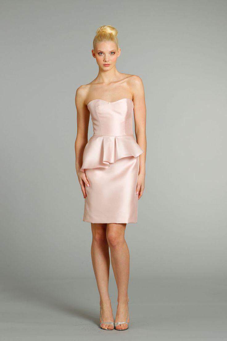 Jim Hjelm Occasions Asymmetrical Peplum Bridesmaid Dress