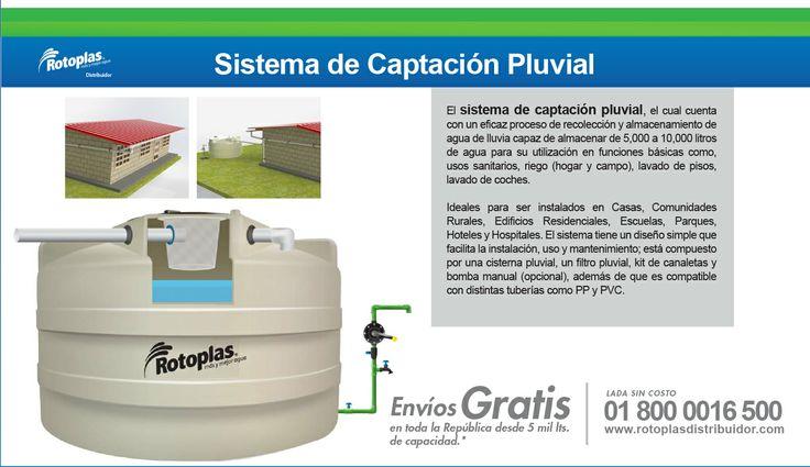 Sistema de Captación Pluvial #Tanques #Rotoplas #Cisternas #Agua #Lluvia Lada sin costo 01 800 0016 500 http://www.rotoplasdistribuidor.com/blog/8-sistema-de-captacion-pluvial