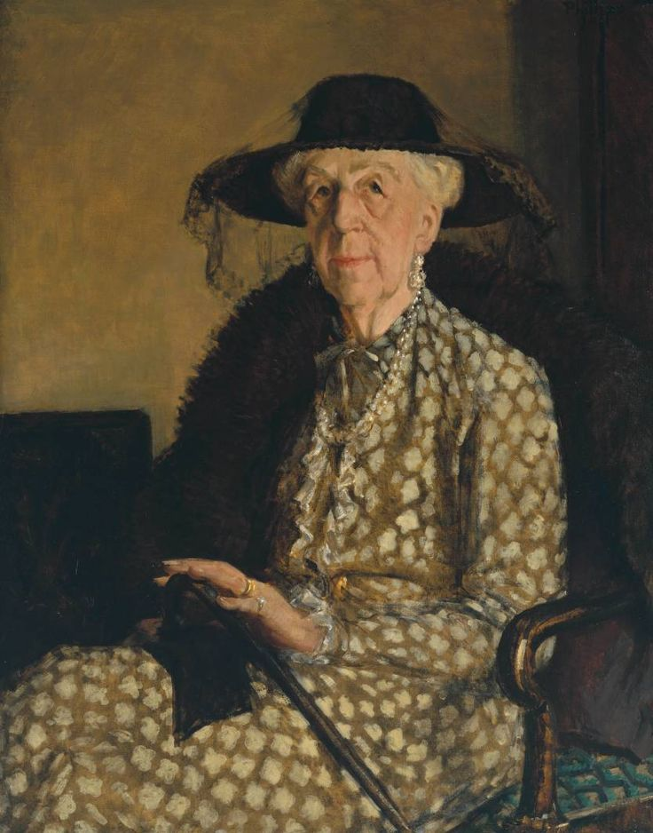 'Mrs Carter Gifford', 1947 by Patrick Phillips (1907-1976) © estate of Patrick Phillips