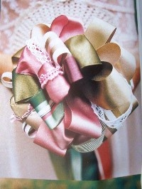 Gorgeous looped ribbon bouquet