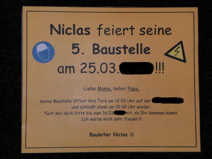 2012   Thema Baustelle   Einladungskarte Rückseite
