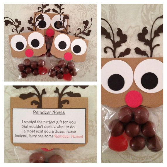 Reindeer Noses, Christmas Favors, Christmas Candy, Gifts for Classmates, Party Favors, Funny Gifts. $2.00, via Etsy.
