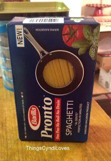 thingsCyndiloves: How Barilla Pronto Pasta Made Dinner Quick