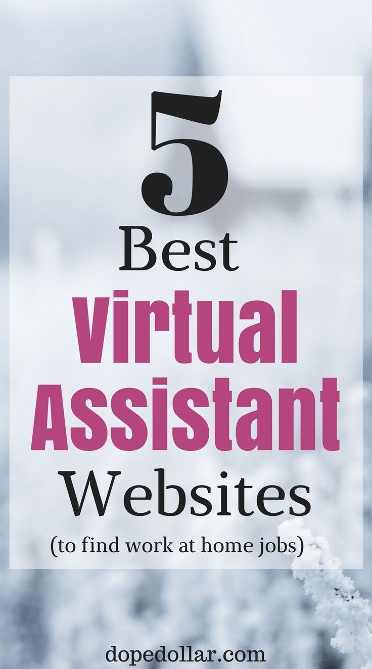 Here are the top 5 websites to find virtual assistant jobs that you can work from home! If you're looking to be a personal assistant these are the top 5 websites I would use.