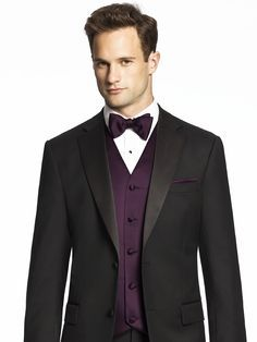 black suit with lavender bow tie - Google Search