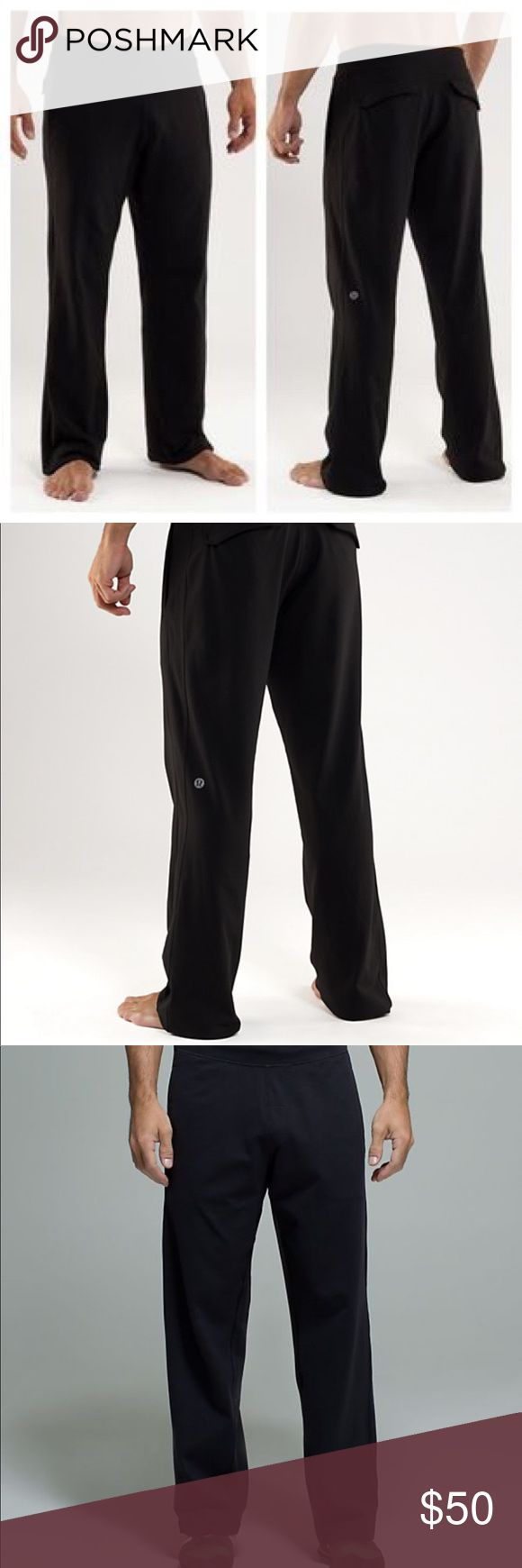 Lululemon men's kung fu martial art sweat pants Lululemon athletica men's sweatpant. I believe the style is called kung fu. Only worn once and in pristine condition. Size small (regular). Inseam: 27 lululemon athletica Pants Track Pants & Joggers