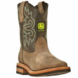 John Deere Toddler Boys Leather Square Toe Western Boots WANT
