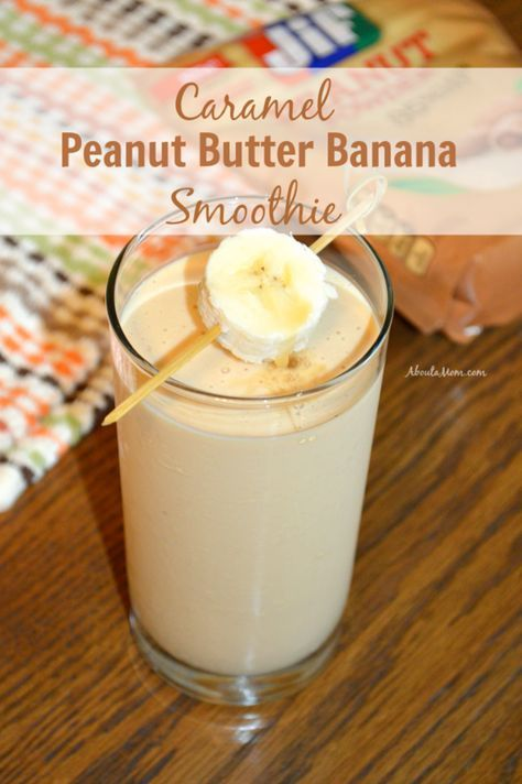Smoothies are so versatile and a great way to sneak some extra fruit and protein into your diet. This delicious Caramel Peanut Butter Banana Smoothie is made with Jif® Peanut Powder.