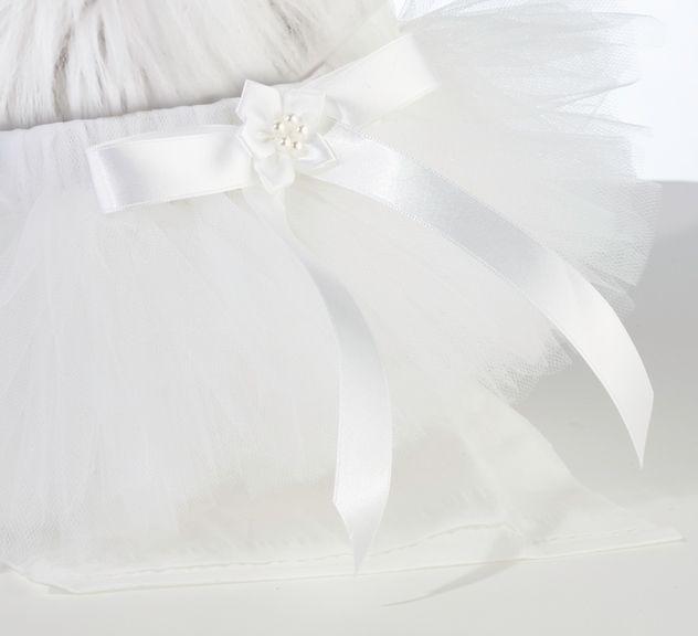 Gonna Bianca Per Cane Un agonna bianca perfetta per il tuo amico a 4 zampe e farlo partecipare in maniera elegante al tuo evento. - Matrimonio, Accessori Cerimonia, Amici a 4 Zampe -  http://www.dettagliperfetti.com/amici-a-4-zampe/4857-Gonna-Bianca-Per-Cane.html -    Anche il vostro cane può essere unico il giorno del vostro matrimonio con questa   elegante gonna fatta di tulle bianco e caratterizzata nel punto vita da un fiocchettino   di raso con perle e fiori.       Adatta per cani di…