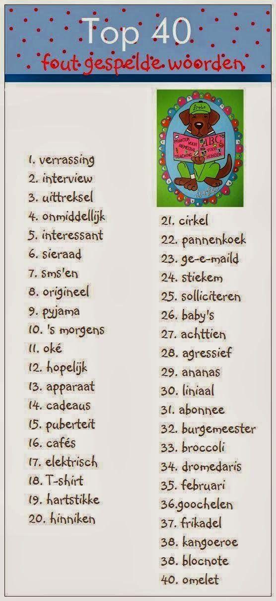 Onderwijs+en+zo+voort+........:+1106.+Ezelsbruggetjes+:+De+meest+fout+gespelde+woo...