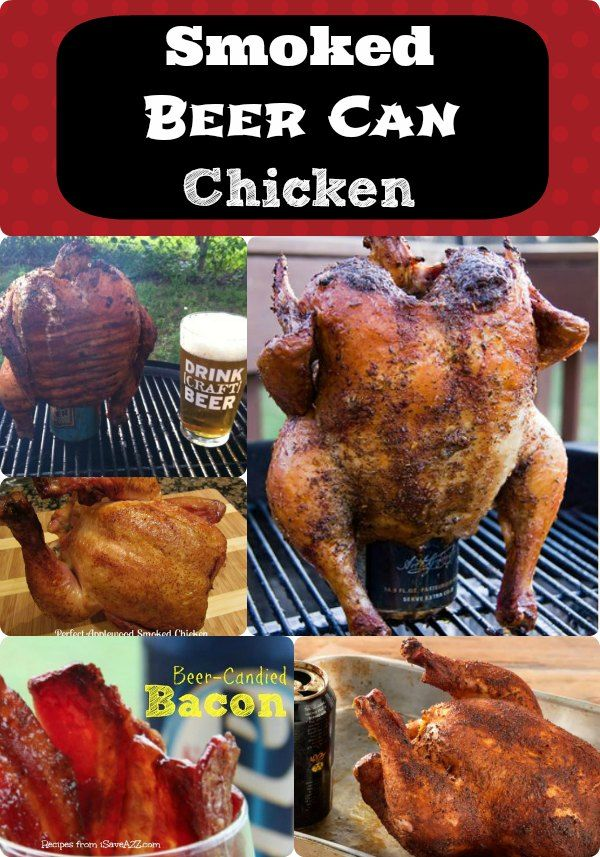 Been wanting to try a Smoked Beer Can Chicken? Get recipe ideas here and also check out our Beer-Candied Bacon! The flavor combinations are endless!