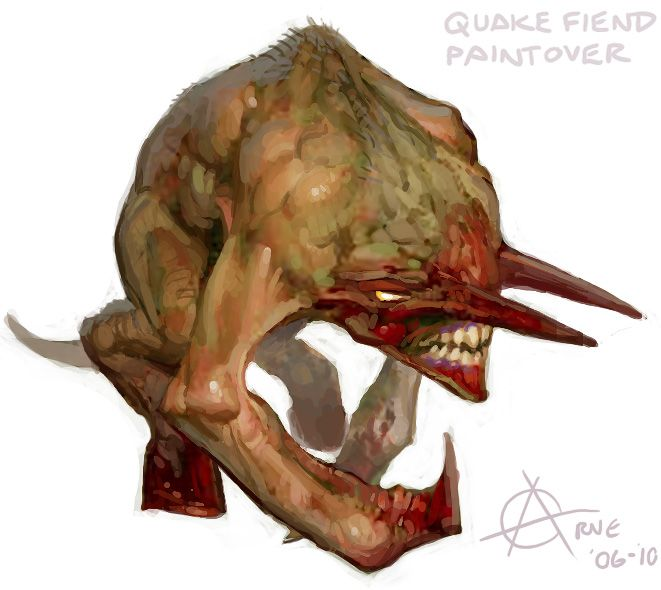 Beast monster character design - Quake 1 Fiend demon