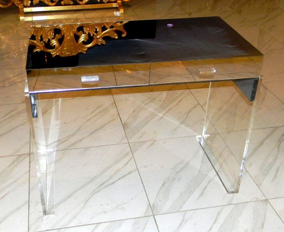 mirror lucite desk vanity custom made to the size you want beautiful mirror