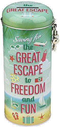 Great Escape Spardose für Urlaub Heimwerkerbedarf Schlösser Schlüssel