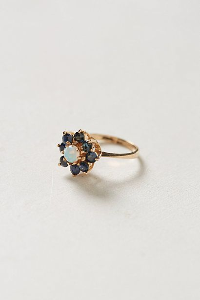 Vintage Sapphire Bloom Ring by #shopFiligree #anthropologie